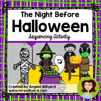 Halloween: The Night Before Halloween Sequencing Activity