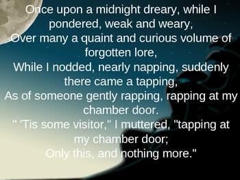 Halloween - The Raven-Edgar Allan Poe Powerpoint