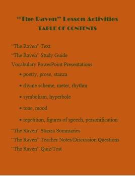 "Halloween ""The Raven"" by Edgar Allen Poe Gr. 6-9"