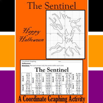 Halloween - The Sentinel - A Coordinate Graphing Activity