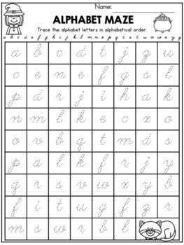 Halloween Handwriting Lessons (Cursive Edition)