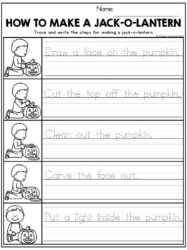 Halloween Theme Based Handwriting Lessons (Manuscript Edition)