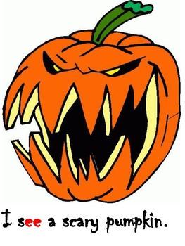 Halloween Theme Beginning Reader Book and Phonics Center