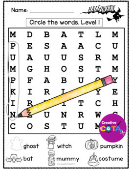 Halloween Theme Differentiated Activities and Worksheets