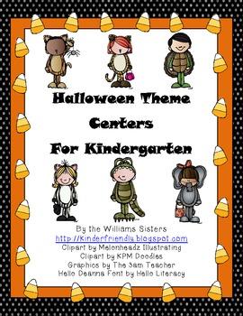 Halloween Theme Centers for Kindergarten