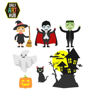 Halloween Theme Clip Art - Great for Art Class Projects!