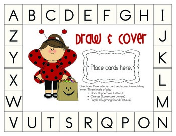 Halloween Theme: Draw & Cover Letters