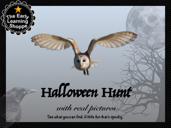"Halloween Theme ""I Spy"" Game Mat"