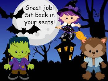 Halloween Theme Letters and Sounds MOVE IT!