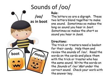 Halloween Theme Literacy Center Bundle Phonics