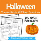 Halloween Math ACT Prep Worksheet - Practice Questions ACT Math