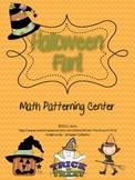 Halloween Theme Math Center {Patterns}