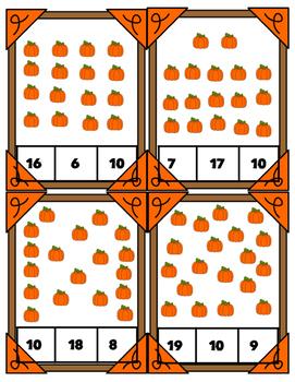 Halloween Theme Math Centers 1-20