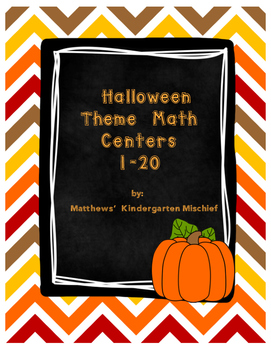Halloween Theme Math Centers 1-20