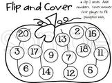 Halloween Theme Math Game - Flip, Add, Cover