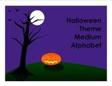Halloween Theme Medium Alphabet