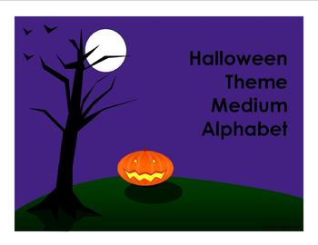 Halloween Theme Medium Alphabet