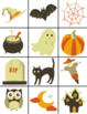 Halloween Theme Memory Game & Math Puzzles (Counting 1 - 10) Bundle