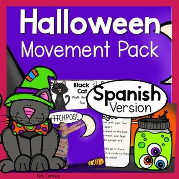 Halloween Theme Movement Pack - SPANISH ESPANOL Version