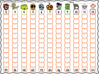 Halloween Theme Multiplication & Skip-Counting