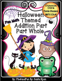 Halloween Theme Part Part Whole Addition Mat & Worksheets Common Core MAFS