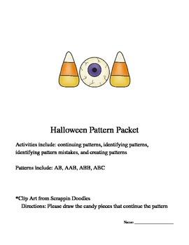 Halloween Theme Pattern Work Packet