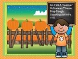 Halloween Theme Playdough Pumpkin Counting 1-10