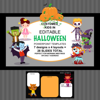 Halloween theme power point templates by smart language arts tpt halloween theme power point templates toneelgroepblik Choice Image