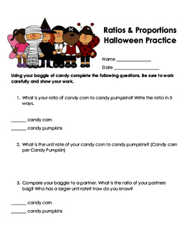 Halloween Theme Practice- Math