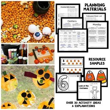 Halloween Theme Preschool Lesson Plans