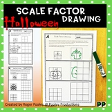 Halloween Theme Scale Factor Drawing, 8 pgs, teacher notes