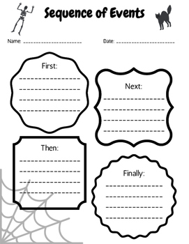 Halloween Theme Sequence of Events Worksheet by Emily Caldwell | TpT