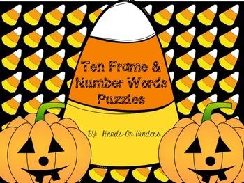Halloween Theme Ten Frame & Number Words