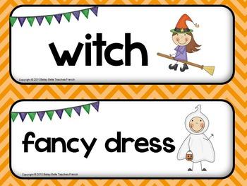 Halloween Theme Wall Words