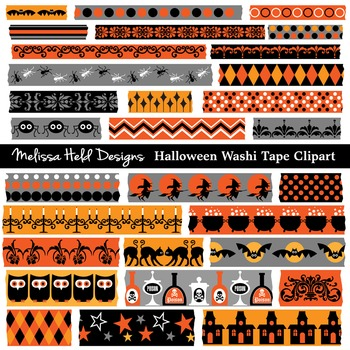 Halloween Theme Washi Tape Clipart
