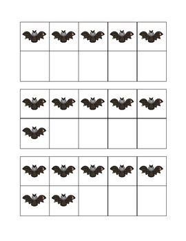 Halloween Themed 10-Frames (Large and Small Set)