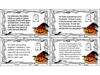Halloween Themed 2-Step Word Problems