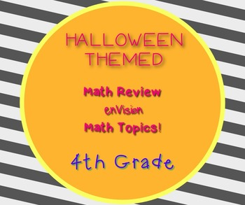 Halloween Themed 4th Grade enVision Math Questions 30 task cards