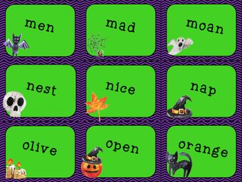 Halloween Themed ABC Order Task Cards