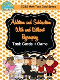 Halloween Themed Adding & Subtracting Task Cards & Game 2.NBT.5