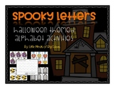 Halloween Alphabet Cards Activities: Letter Recognition an