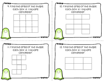 Area & Perimeter Task Cards | Halloween Themed