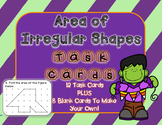 Halloween Themed* Area of Shapes Task Cards PLUS Blank Cards to Make Your Own!
