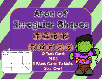 Halloween Themed* Area of Shapes Task Cards PLUS Blank Car