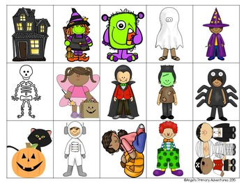 Halloween Themed Barrier Game for Oral Communication