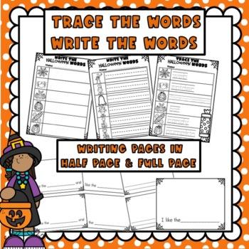 Halloween Themed Big Writing Banner