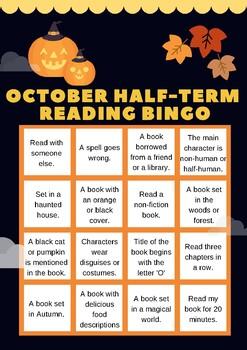 Halloween-Themed Book Reading Bingo Sheet