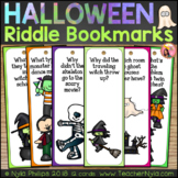 Halloween Themed Bookmarks with Funny Joke Riddles