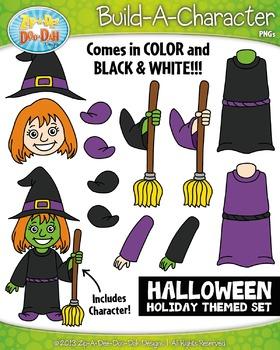 Halloween Build-A-Character Clipart {Zip-A-Dee-Doo-Dah Designs}