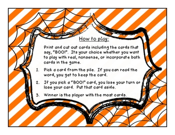 Halloween Themed CVC GAME